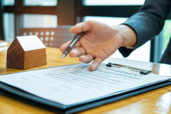 Home purchase agreement. Royalty Free Stock Photos