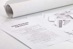 Home purchase agreements royalty free stock photo