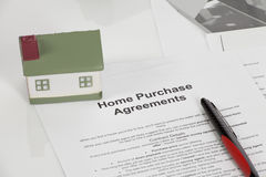 Home purchase agreements. Buy or not buy Stock Images