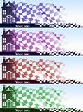 Home purchase banners set Royalty Free Stock Image