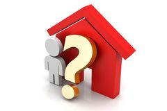 Home purchase or rent concept Royalty Free Stock Photos