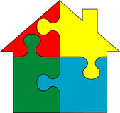 Home in puzzle -  Stock Photos