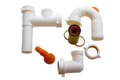 Home pvc pipes set for sink Royalty Free Stock Images