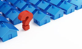 Home question mark Stock Photography