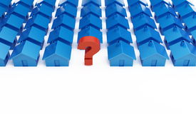 Home question mark Stock Photo
