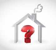 Home and question mark illustration design Stock Image