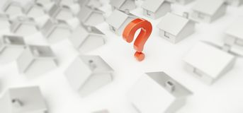 Home question mark. On a white background Royalty Free Stock Photo