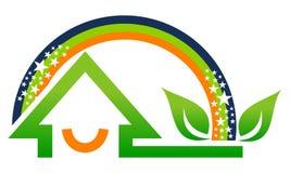 Home Rainbow Leaf Stock Photo
