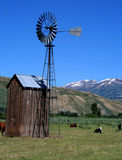 Home On The Range 2. Rural Idaho scene, cattle grazing near old windmill Royalty Free Stock Images