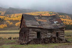 Home on the Range. Vintage mountain cabin near Crested Butte, Colorado Royalty Free Stock Images