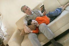 At home reading royalty free stock photos