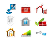 Home. real estate concept icon set Stock Image