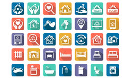Home, Real estate icon set Royalty Free Stock Photography