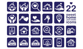 Home, Real estate icon set Stock Images