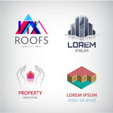 Home and real estate logo collection, House office,  repair ,eco, insurance Stock Photos