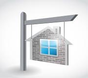 Home real estate sign illustration design Stock Photo