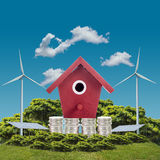 Home real green energy Stock Photos