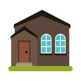 Home real state expensive american modern. Vector illustration eps 10 royalty free illustration