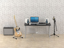 Home Recording Studio Royalty Free Stock Photography