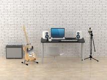 Home Recording Studio Royalty Free Stock Photography