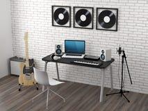 Home Recording Studio Royalty Free Stock Photos
