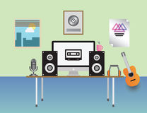 Home recording studio  Royalty Free Stock Image