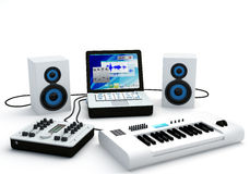 Home Recording Studio Equipment Royalty Free Stock Image