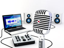Home Recording Studio Equipment Stock Photography