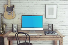 Home Recording Studio Royalty Free Stock Photos