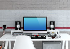 Home Recording Studio Stock Photography