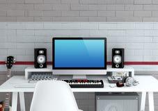 Home Recording Studio Stock Photography