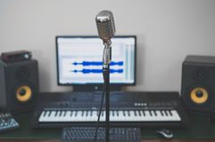 Home recording studio. Royalty Free Stock Images