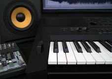 Home recording studio. Stock Images