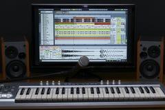 Home recording studio. Stock Photos