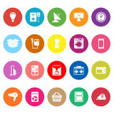 Home related flat icons on white background Royalty Free Stock Photography