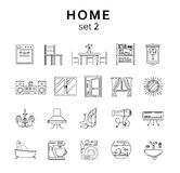 Home related icons set2, vector illustration, line icons Royalty Free Stock Photo