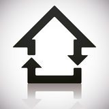 Home and reload icons combined. Royalty Free Stock Photo