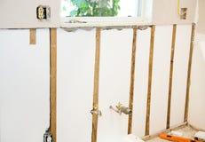 A HOME remodela - paredes isoladas imagens de stock