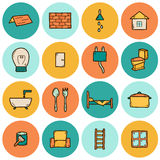 Home remodeling icons Stock Photo