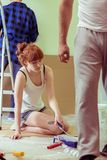 Home remodeling and renovation Royalty Free Stock Image