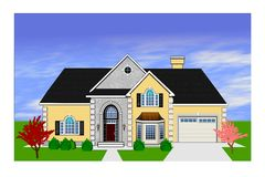 Home rendering Stock Photo