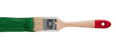 Home renovating paintbrush Royalty Free Stock Images