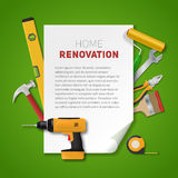 Home renovation banner Stock Image