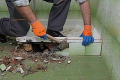 Free Home Renovation, Bathroom Demolish Stock Photography - 81445042