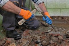 Free Home Renovation, Bathroom Demolish Royalty Free Stock Image - 84745456