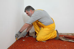 Home renovation, carpet remove Royalty Free Stock Photography