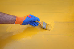 Home renovation, floor painting Stock Photography