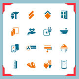 Home renovation icons | In a frame series Stock Photos