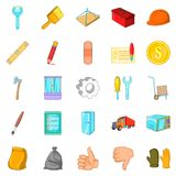 Home renovation icons set, cartoon style Royalty Free Stock Photography