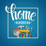 Home renovation lettering Royalty Free Stock Photography